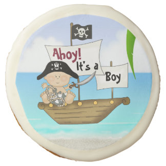 ahoy it 39 s a boy pirate baby shower cookie favors