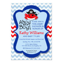 Ahoy It's A Boy - Pirate Crab Boy Baby Shower Invitation