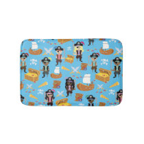 Ahoy! It's a Pirate Treasure Hunt Kids Pattern Bathroom Mat