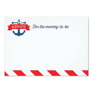 """¡Ahoy! Juego de tarjeta náutico del consejo de la Invitación 3.5"""" X 5"""""""