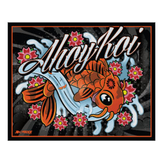 Ahoy Koi Poster