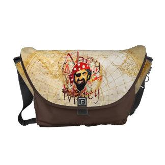 Ahoy la bolsa de mensajero afable del pirata bolsa de mensajería