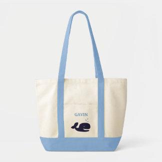 AHOY la bolsa de pañales de la ballena azul del CO