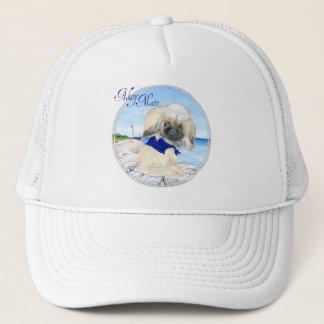 Ahoy Little Sailor Peke Trucker Hat