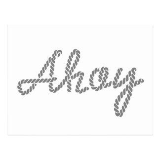 Ahoy made of Rope Postcard
