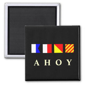 Ahoy 2 Inch Square Magnet