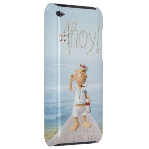 ¡Ahoy! Marinero lindo en paseo marítimo Case-Mate iPod Touch Coberturas