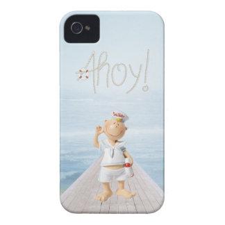 ¡Ahoy! Marinero lindo en paseo marítimo iPhone 4 Case-Mate Fundas