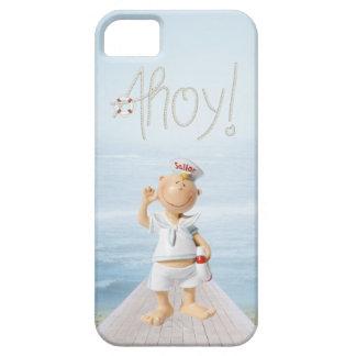 ¡Ahoy! Marinero lindo en paseo marítimo iPhone 5 Case-Mate Protector