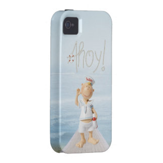 ¡Ahoy! Marinero lindo en paseo marítimo iPhone 4/4S Funda