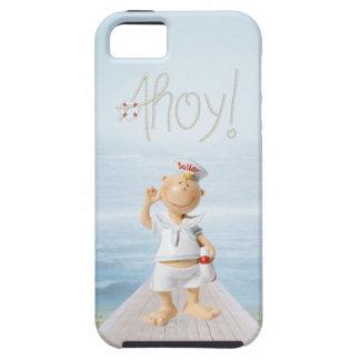 ¡Ahoy! Marinero lindo en paseo marítimo Funda Para iPhone SE/5/5s
