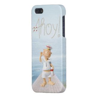 ¡Ahoy! Marinero lindo en paseo marítimo iPhone 5 Carcasas