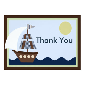 Ahoy Mate 2/Sailboat Baby Shower Thank You Card