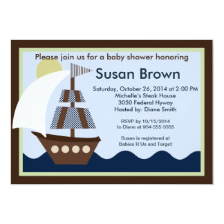 Ahoy Mate 2/Sailboat /Whale Baby Shower Invitation