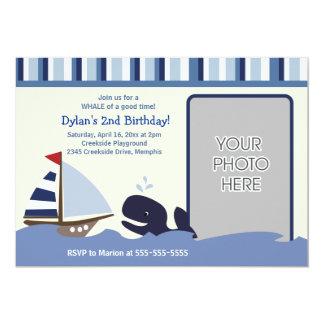 Ahoy Mate 5x7 Birthday Photo Invitation