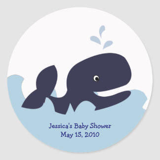 AHOY MATE Blue Whale Favor Stickers Personalized
