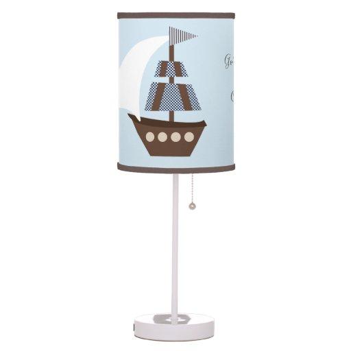 Ahoy Mate/Nautical/Sailboat Nursery Lamp