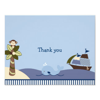 """Ahoy Mate Nautical Thank You Note Cards 4.25"""" X 5.5"""" Invitation Card"""