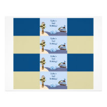 Ahoy Mate Nautical Water Bottle Labels Flyer