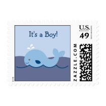 Ahoy Mate Nautical Whale Postage Stamps