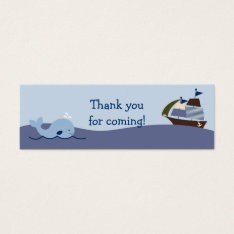 Ahoy Mate Nautical Whale Sailboat Favor Gift Tags at Zazzle