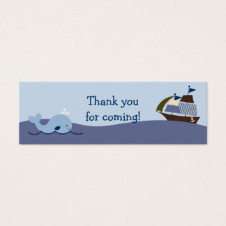 Ahoy Mate Nautical Whale Sailboat Favor Gift Tags