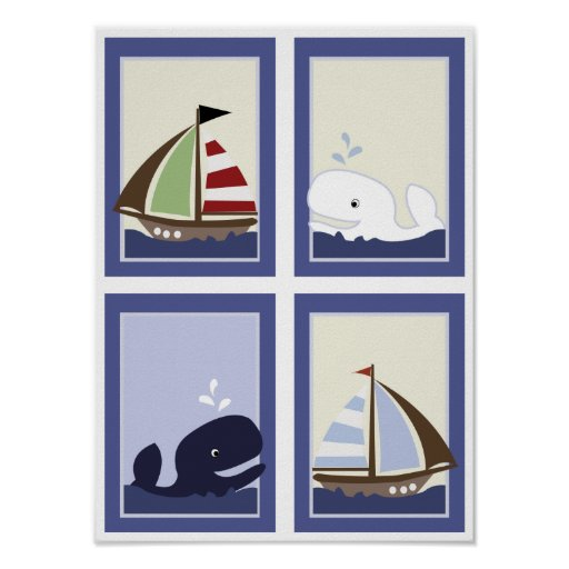 AHOY MATE Sail boat Boys Nursery Room Prints