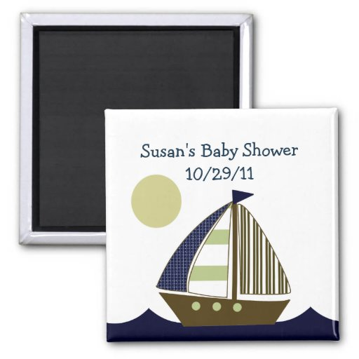Ahoy Mate Sailboat Magnet/Keepsake/Party Favor Magnet