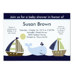 Ahoy Mate/Sailboat /Whale Baby Shower Invitation