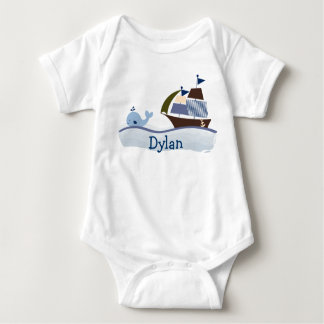 Ahoy Mate Sailboat Whale Baby T-Shirt
