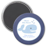 Ahoy Mate Whale 3-inch Round Favor Magnet