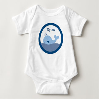 Ahoy Mate Whale Baby T-Shirt