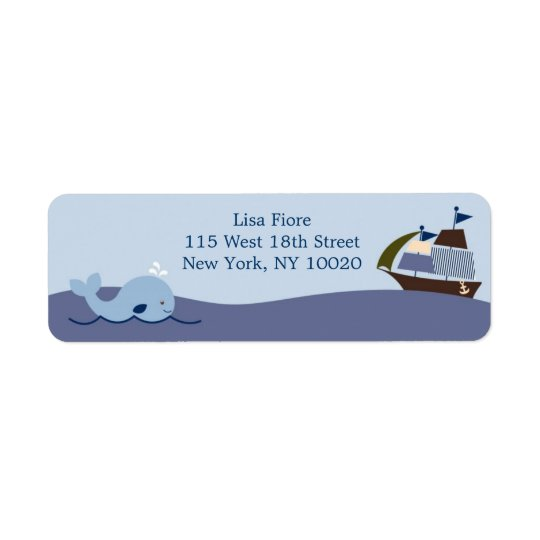Ahoy Mate Whale Boat Baby Shower Address Labels