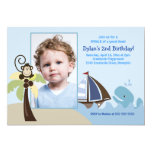 Ahoy Mate Whale *PHOTO* Birthday 5x7 Invitations