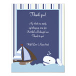 Ahoy Mate White Whale 4x5 Flat Thank you note Invite