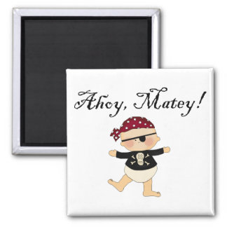 Ahoy Matey Baby Pirate Magnet Magnets