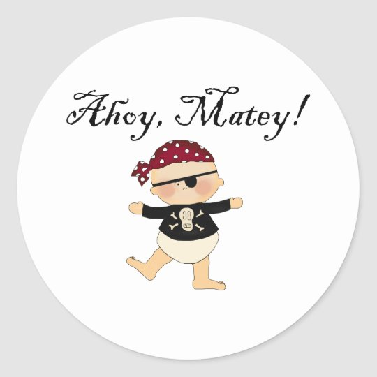 Ahoy Matey Baby Pirate Stickers