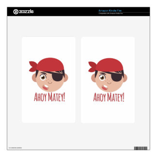 Ahoy Matey Decals For Kindle Fire