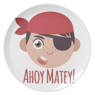 Ahoy Matey Dinner Plate