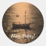 Ahoy Matey envelope seals Stickers