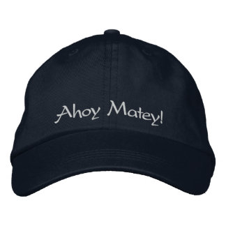 Ahoy Matey! For the Pirate in your life Navy Blue Baseball Cap
