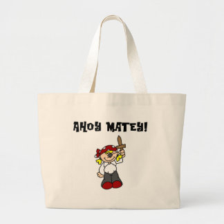 Ahoy Matey Girl Pirate Tshirts and Gifts Bag