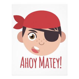 Ahoy Matey Letterhead