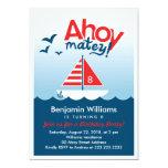 """Ahoy Matey Nautical  Birthday Party Invitation 5"""" X 7"""" Invitation Card"""
