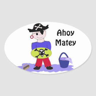 Ahoy Matey Oval Sticker
