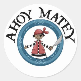 Ahoy Matey Patcheye Pirate Stickers Sticker