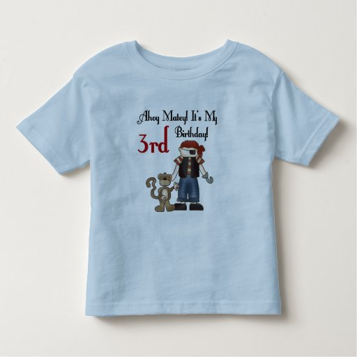 Ahoy Matey Pirate 3rd Birthday Tshirts and Gifts