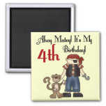Ahoy Matey Pirate 4th Birthday Tshirts and Gifts Refrigerator Magnets
