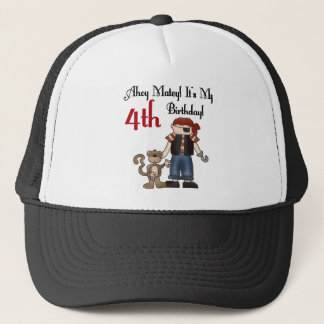 Ahoy Matey Pirate 4th Birthday Tshirts and Gifts Trucker Hat