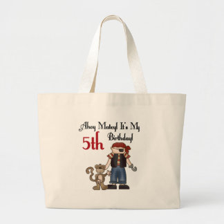 Ahoy Matey Pirate 5th Birthday Canvas Bag
